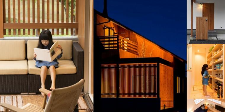 格子組と中庭を愉しむ家